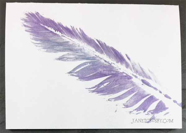 Purple Feather Print Card